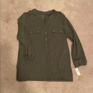 Talbots Green Button-Up Shirt